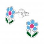 Blue flower - 925 Sterling ...