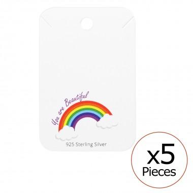 Rainbow Necklaces Cards - P...