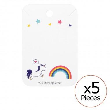 Unicorn And Rainbow Ear Stu...