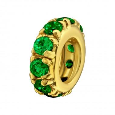 Jeweled Spacer - 925 Sterli...