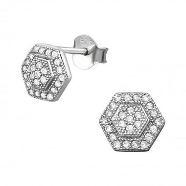 Hexagon - 925 Sterling Silv...