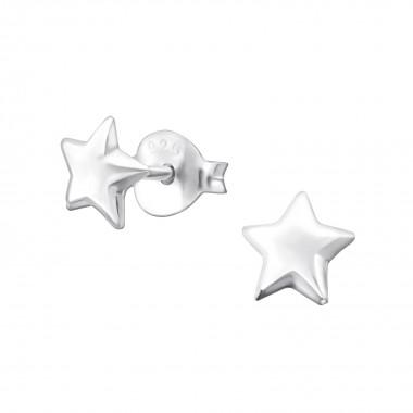 Star - 925 Sterling Silver Simple Stud Earrings SD19236