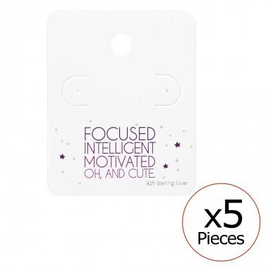 Cute Ear Stud Cards - Paper...
