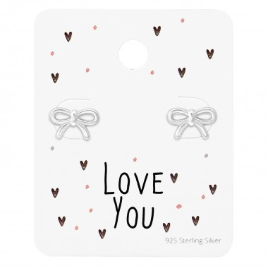 Bow Ear Studs On Love You C...