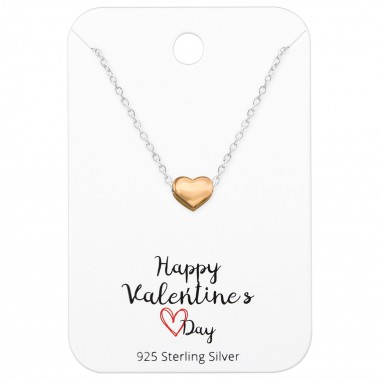 Heart Necklace On Happy Val...