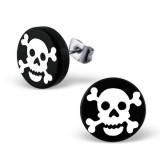 White pirate skull - Plasti...